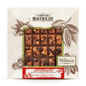 Mendiant Cranberries et Amandes Caramélisées Chocolat lait 240G