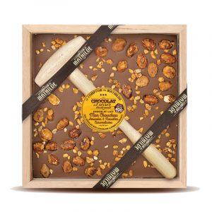 Mon Chouchou Amandes & Noisettes Caramélisées Chocolat lait – Chocolat à casser 400G