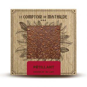 Tablette Pétillant – Chocolat lait 80 G