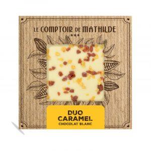 Tablette Duo Caramel – Chocolat Blanc 80G