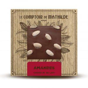 Tablette Amandes – Chocolat lait 80G