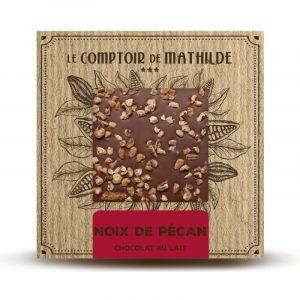 Tablette NOIX DE PECAN – Chocolat lait 80G