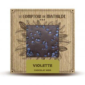 Tablette Violette – Chocolat noir 80G
